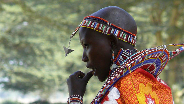 Maasai young woman
